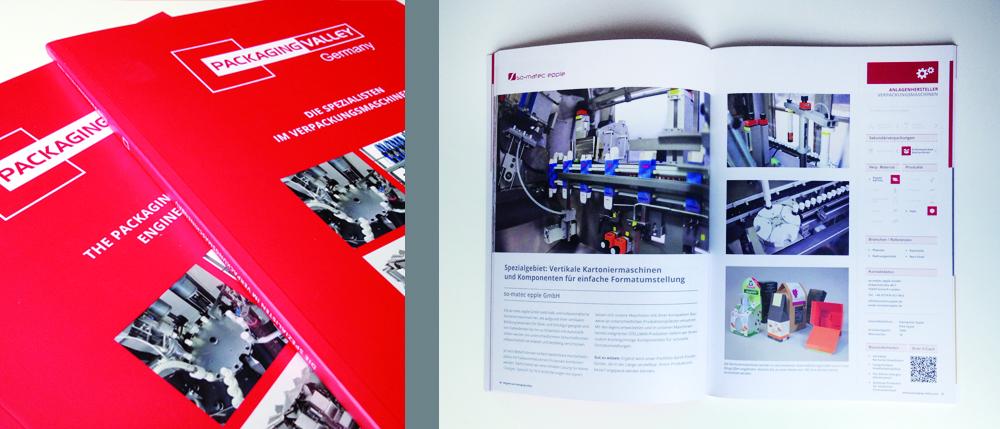 Broschüre 2014 für Packaging Valley
